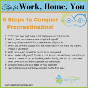 9 Steps to Conquer Procrastination
