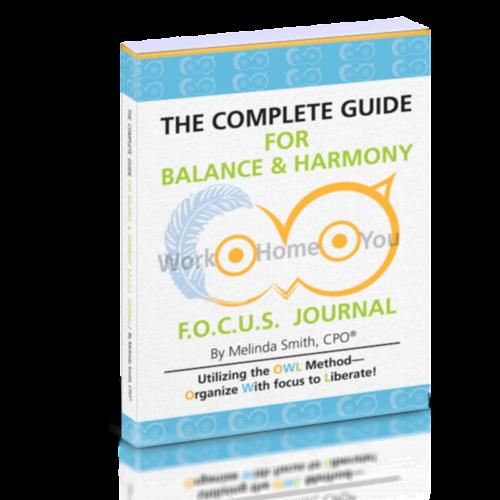 focus journal to balance life