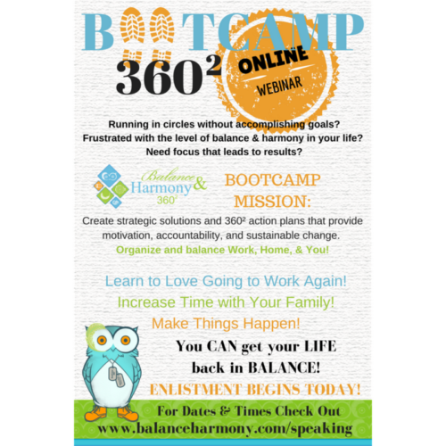 Organize Bootcamp Online; Balance Life