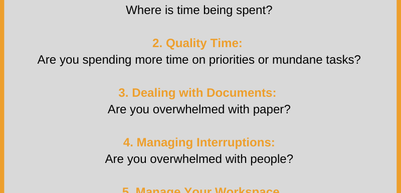 6 Ways to Manage Priorities; How is your Time Management Skills?